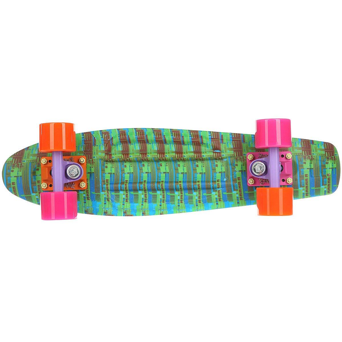Скейт мини круизер Пластборды Sun 1 Blue/Green/Red 6 x 22.5 (57 см)