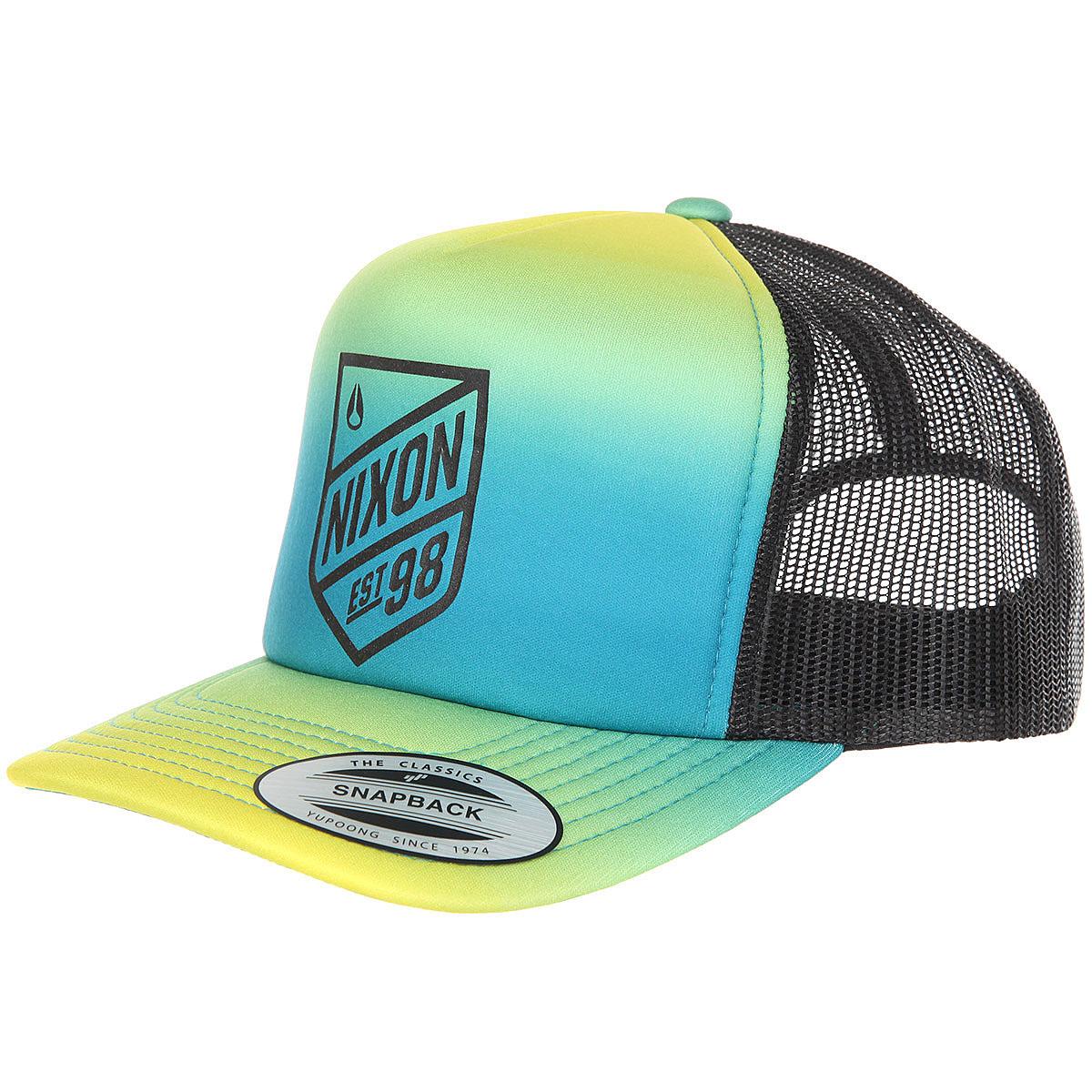 Купить бейсболку с сеткой Nixon Low Trucker Hat Navy Gradient в ... 72054d6b8e5a