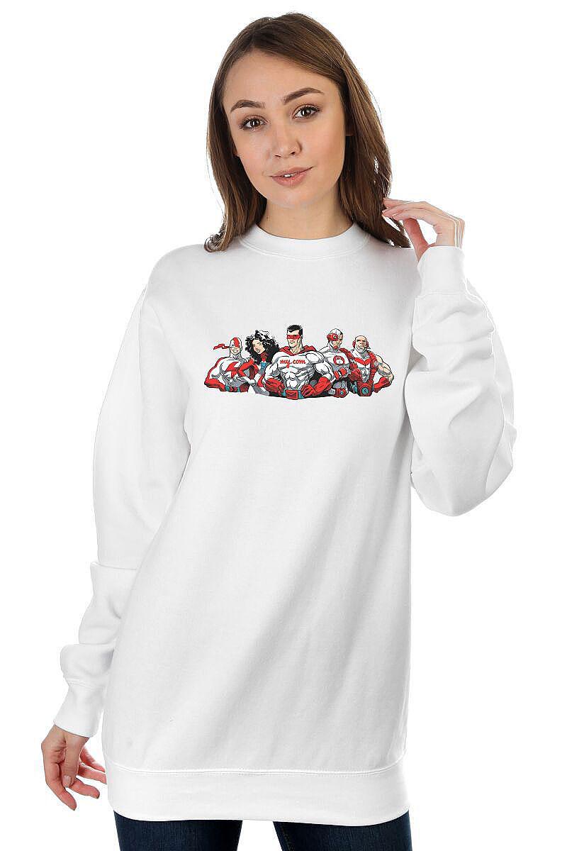 4007111782daf Купить свитшот женский My.com Five белый в интернет-магазине gifts ...