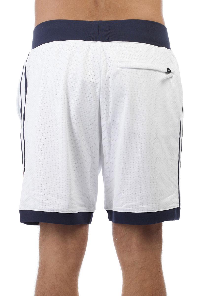 Шорты классические Nike SB SHORT COURT White/Obsidian/University Red