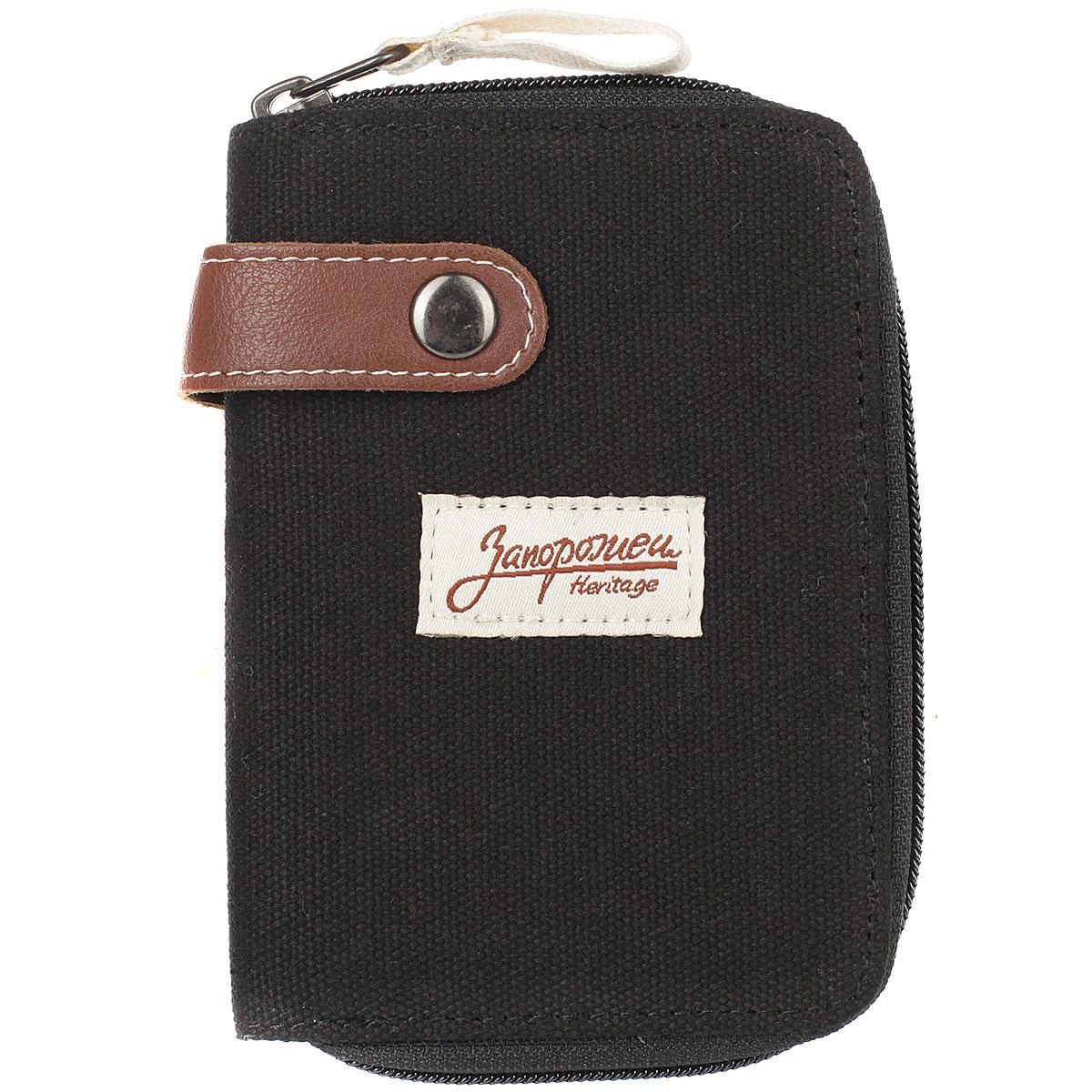 e339f1a1bbbc Купить кошелек запорожец Zip Wallet Black/Brown в интернет-магазине ...