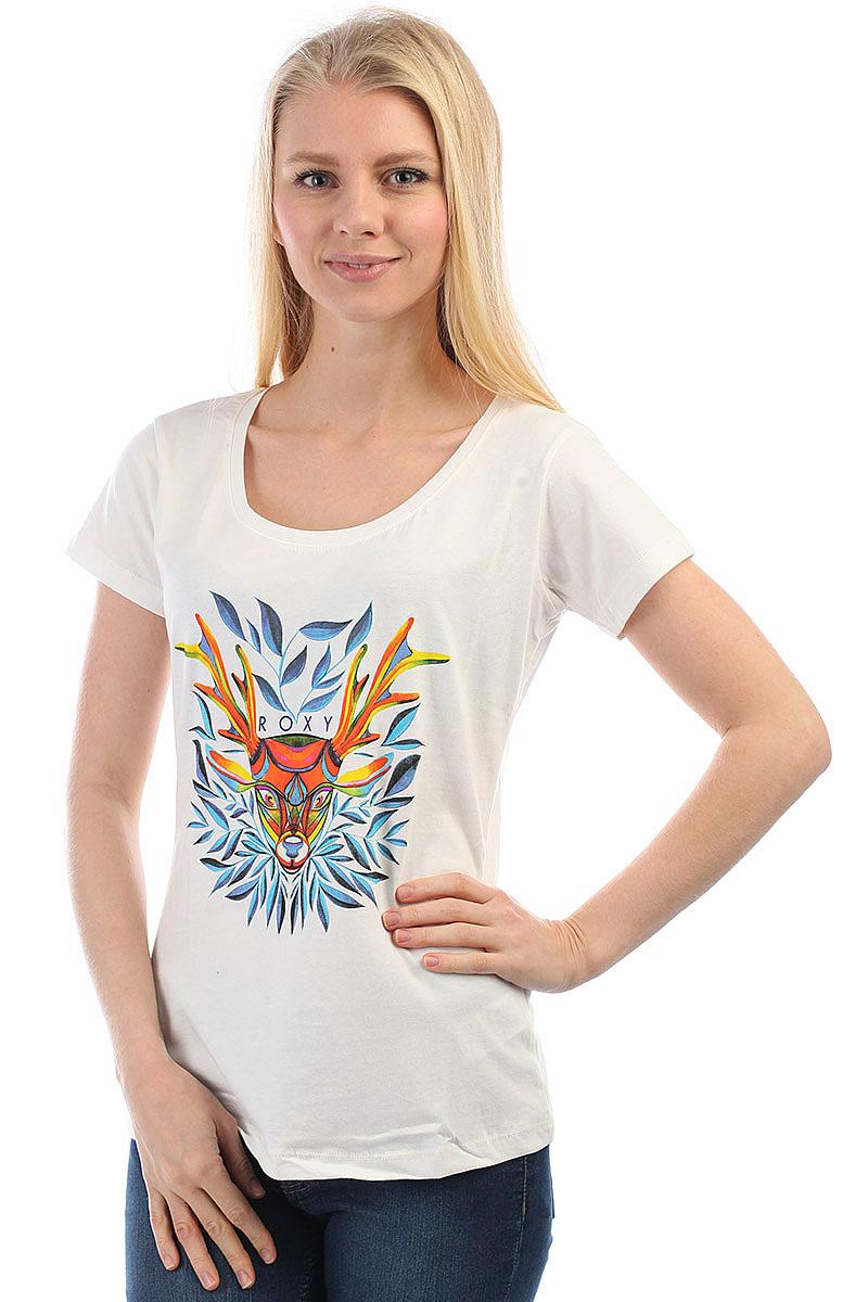 bce0cd3145d14 Купить футболку женскую Roxy Bobby Russia Marshmellow (ERJZT04019 ...