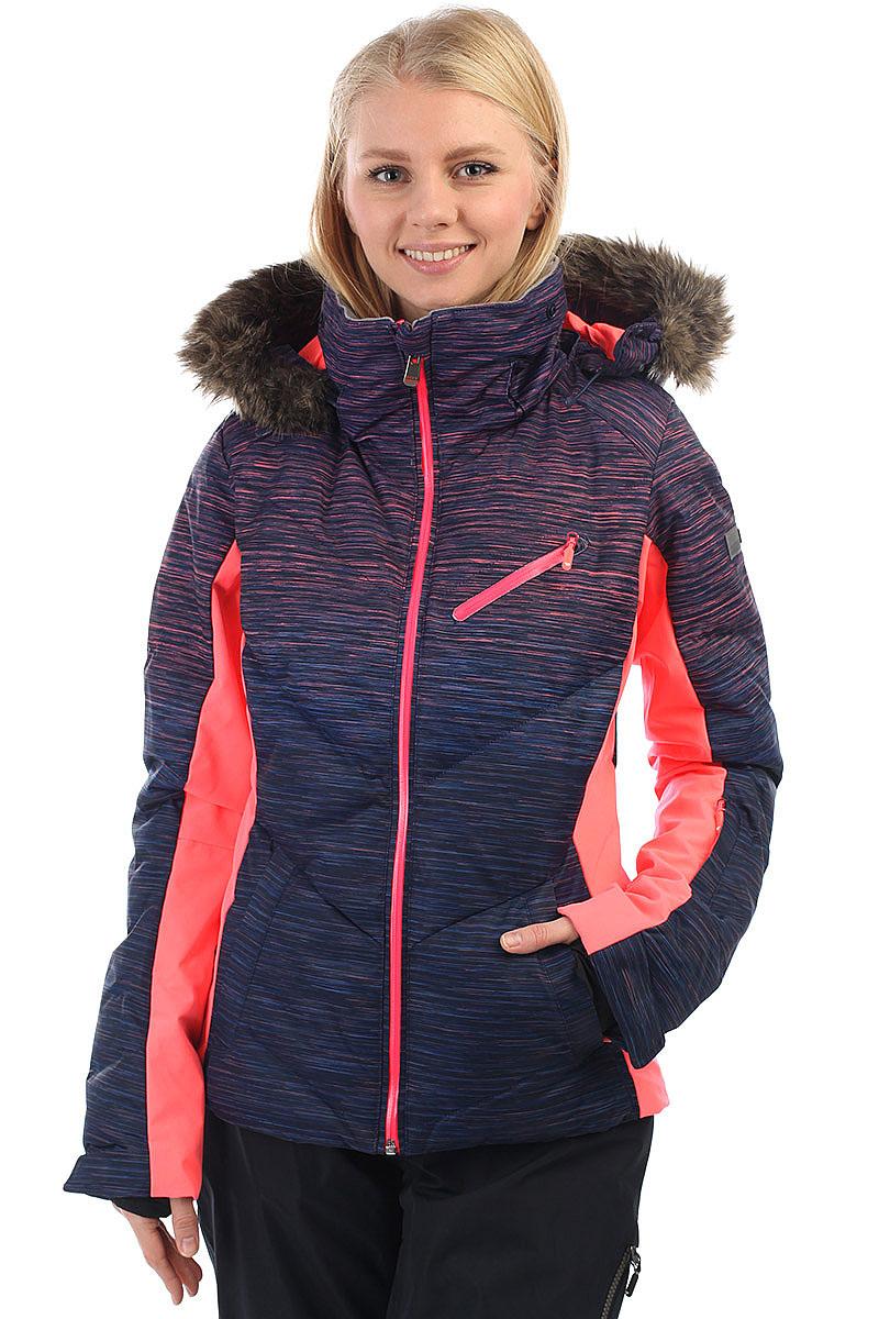 253179d9caa3 Куртка утепленная женская Roxy Snowstorm Print Neon Grapefruit Spac. до -15°