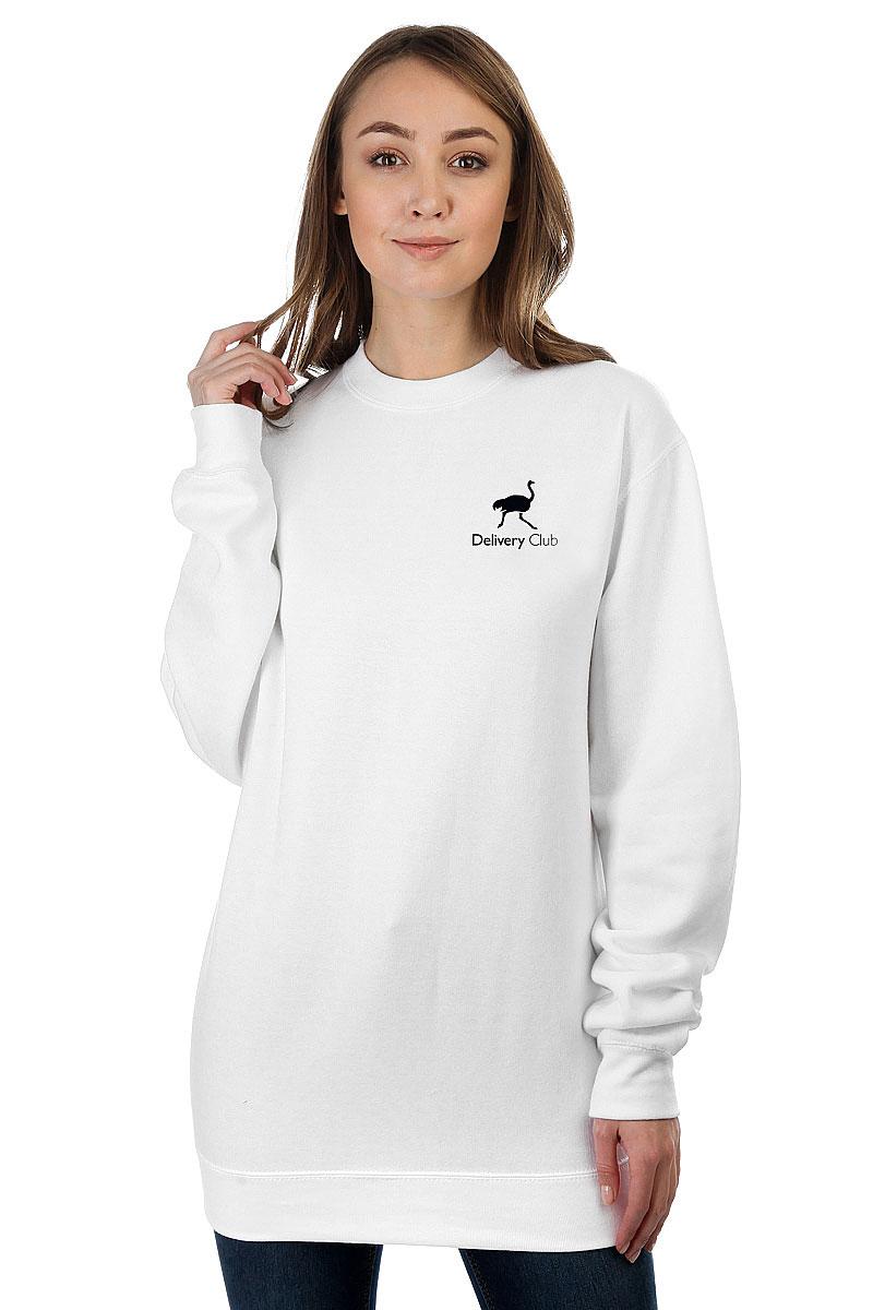 14703fb86cfb2 Купить свитшот женский Deliveryclub Logo белый S в интернет-магазине ...