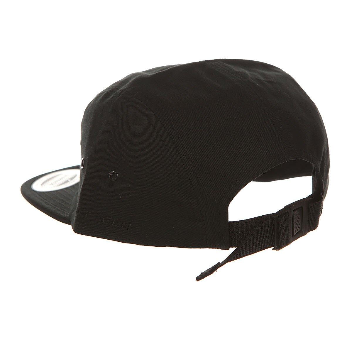 Бейсболка пятипанелька Flexfit 7005 Black