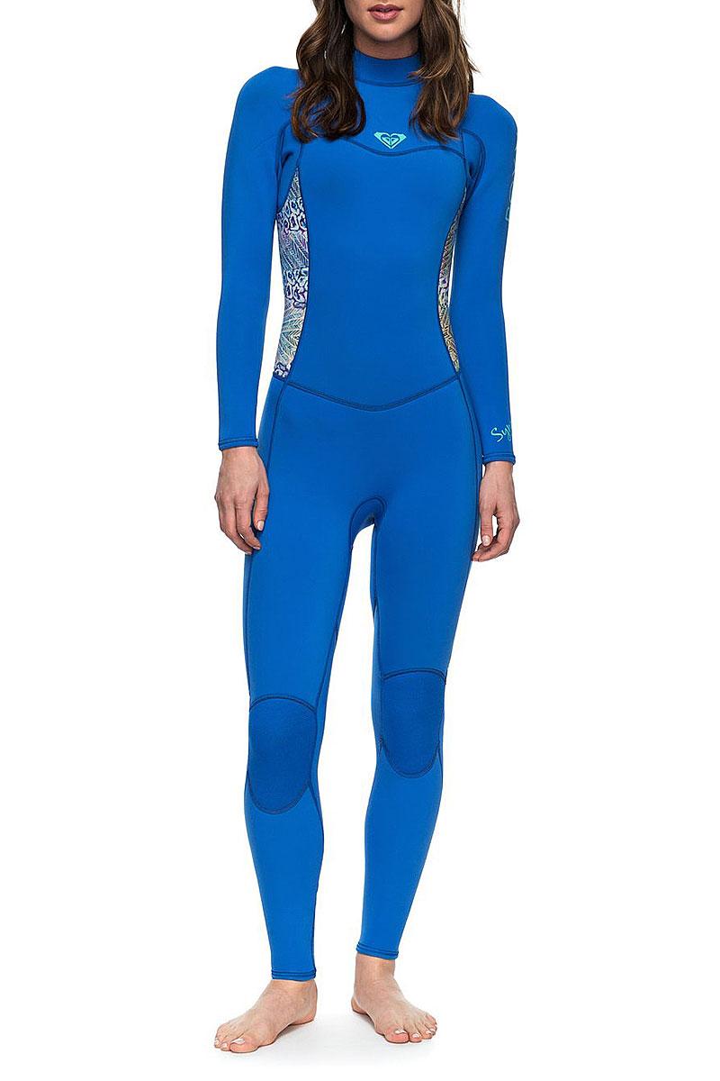 Купить гидрокостюм (комбинезон) женский Roxy 32 Syn Bz Flt Sea Blue ... 187a54f4200