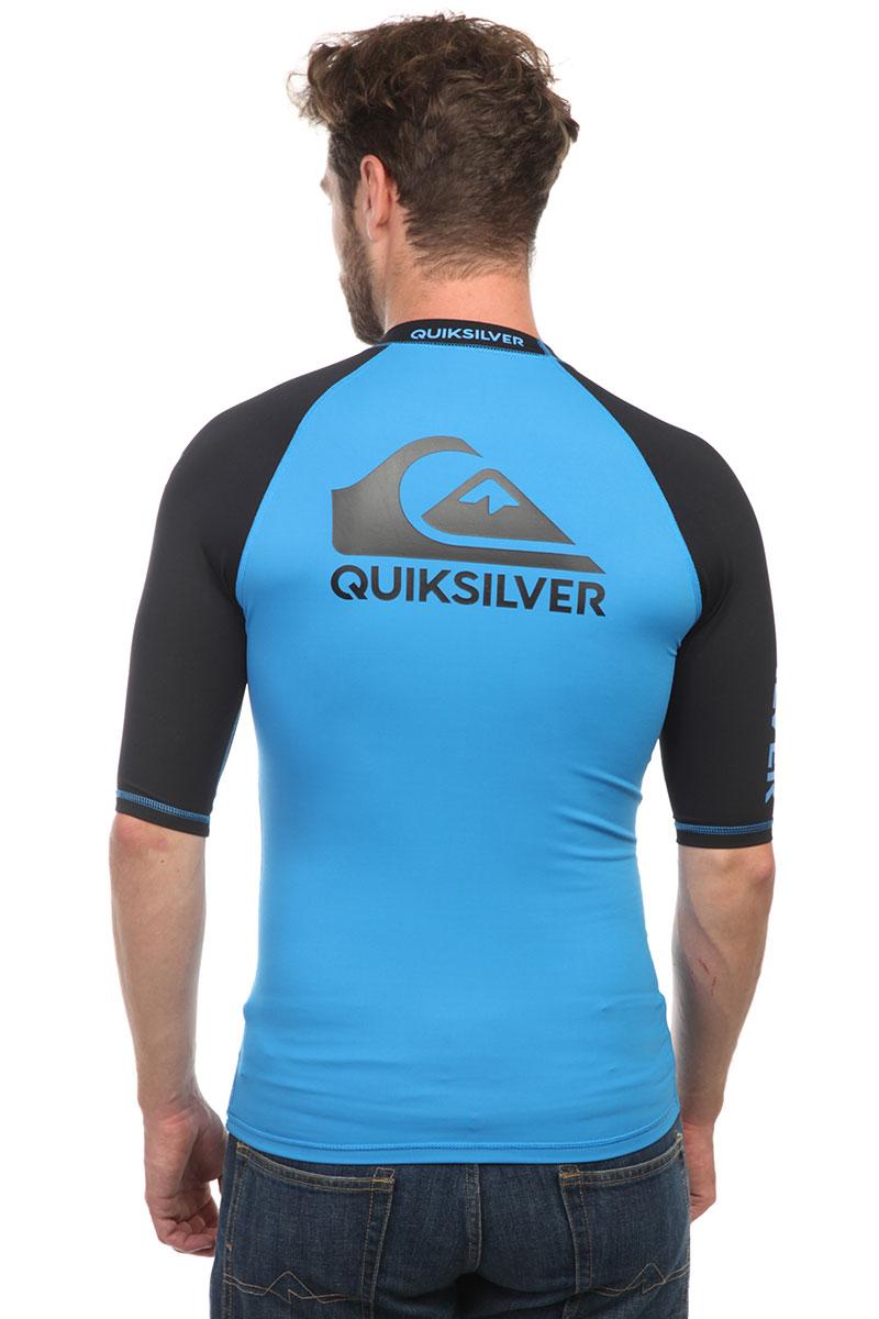 Гидрофутболка Quiksilver On Tour Ss Brilliant Blue/Black