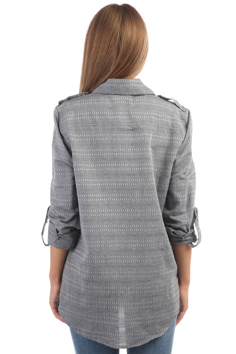 1d1dbbaa8f829fd Купить рубашку женскую Roxy Militaryinflust Dress Blues (ERJWT03247 ...