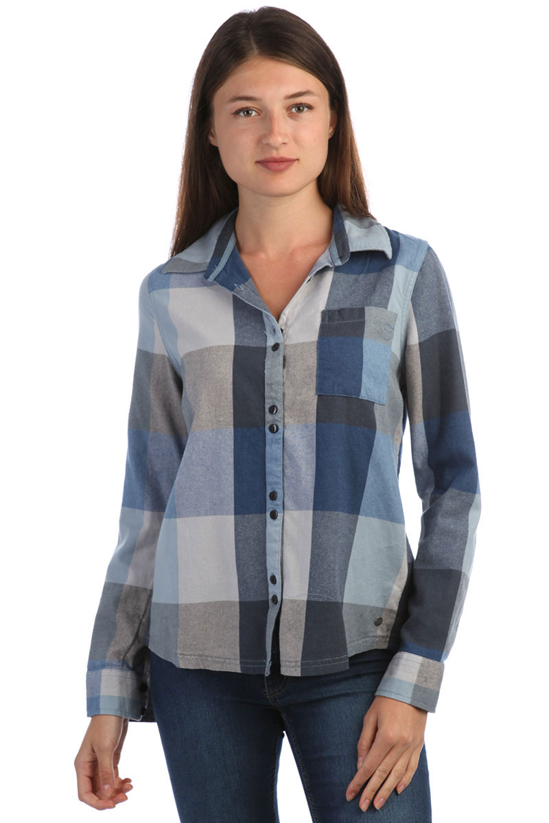 b6f6ef5d09de Рубашка в клетку женская Roxy Concretestreetc Dress Blues Square P