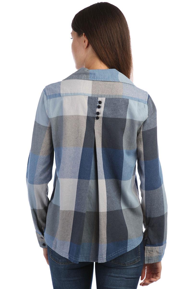 eadede53ab56293 Купить рубашку в клетку женскую Roxy Concretestreetc Dress Blues ...