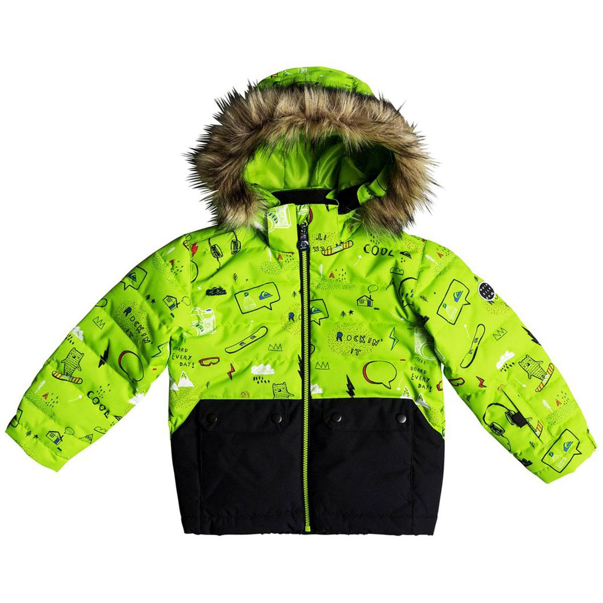 Куртка утепленная детская QUIKSILVER Edgy Kids Jk K Snjt Lime Green moam  Tatt. до -15° c61a3a090e1