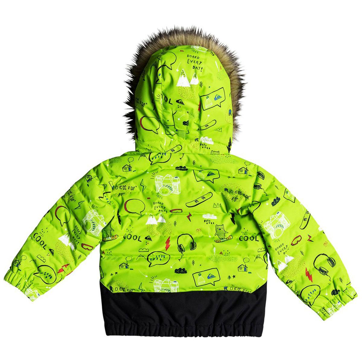 Куртка утепленная детская QUIKSILVER Edgy Kids Jk K Snjt Lime Green moam  Tatt ... 3c49a852ab8