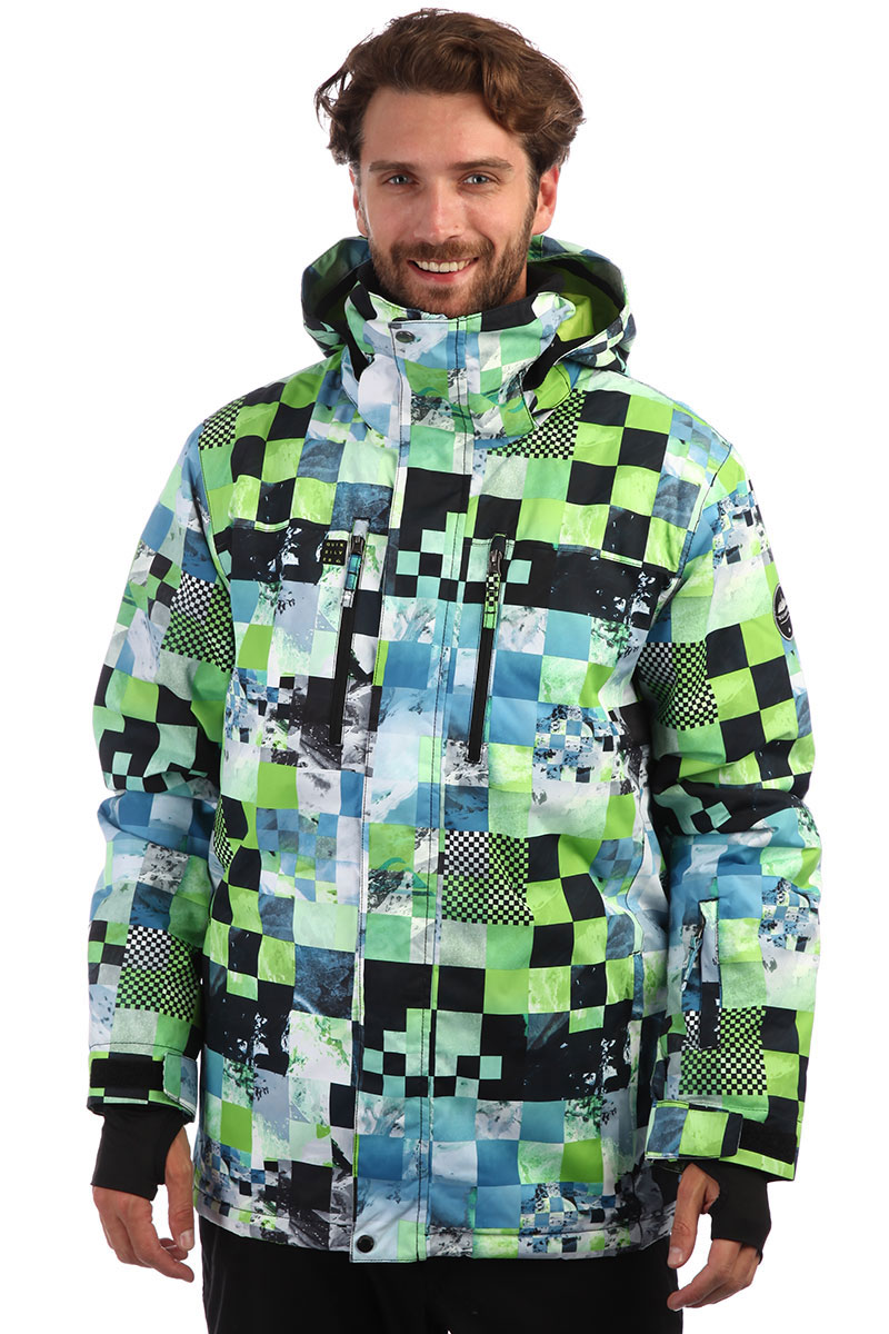 2e40ab99 Купить куртку QUIKSILVER Mission Lime Green Money (EQYTJ03186-GJZ4 ...