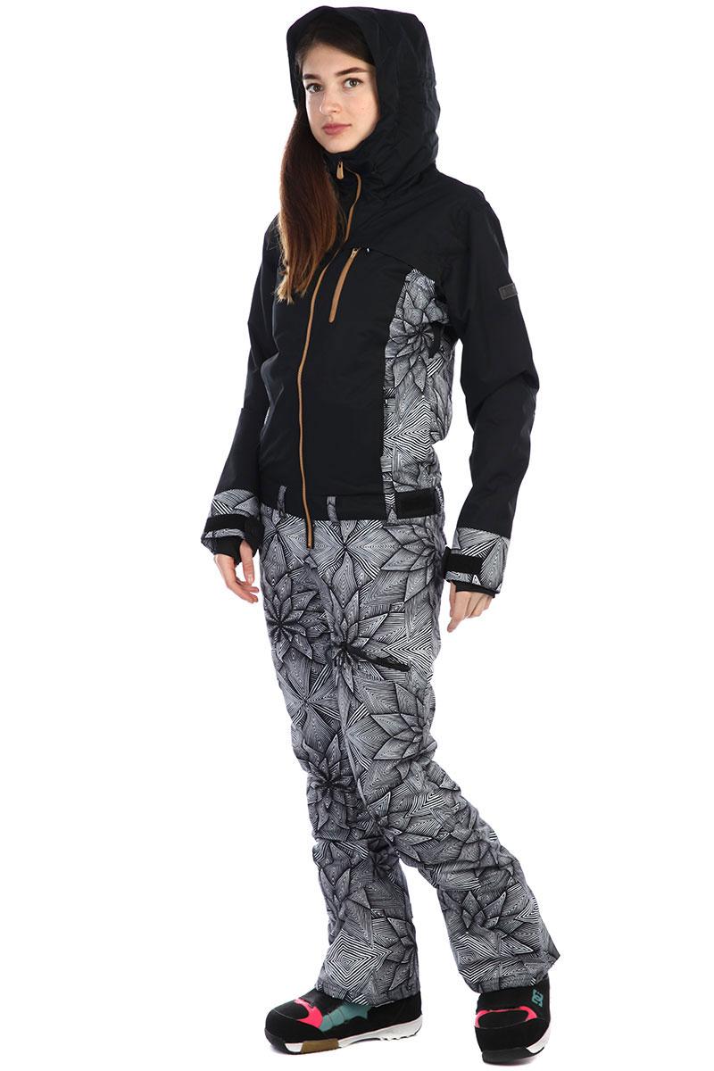 96db84e1d338 ... Комбинезон сноубордический женские Roxy Illusion Suit True Black pop  Snow ...