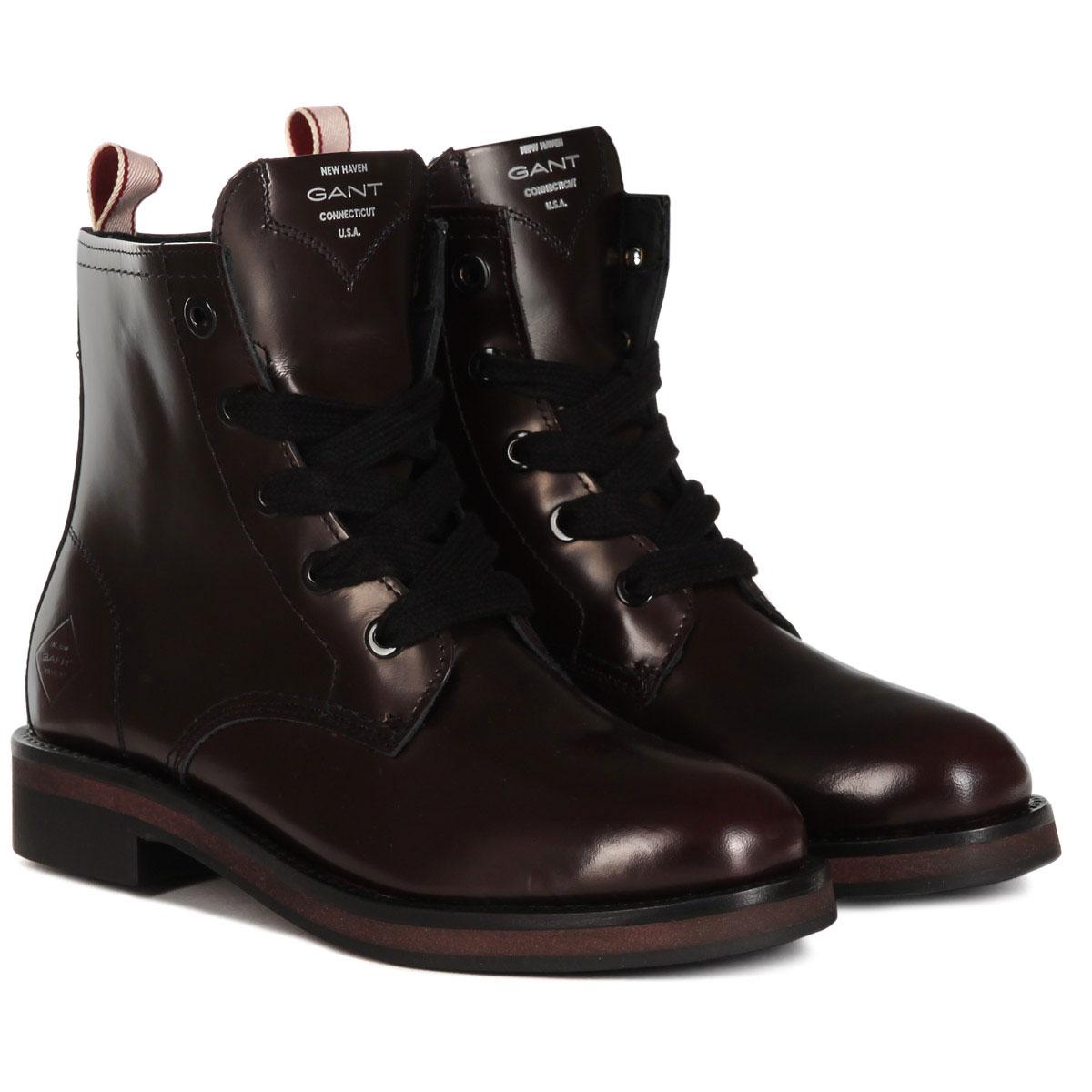 ea276260 Купить высокие ботинки женские Gant Malin бордовые (17542907) в интернет- магазине Proskater.kz