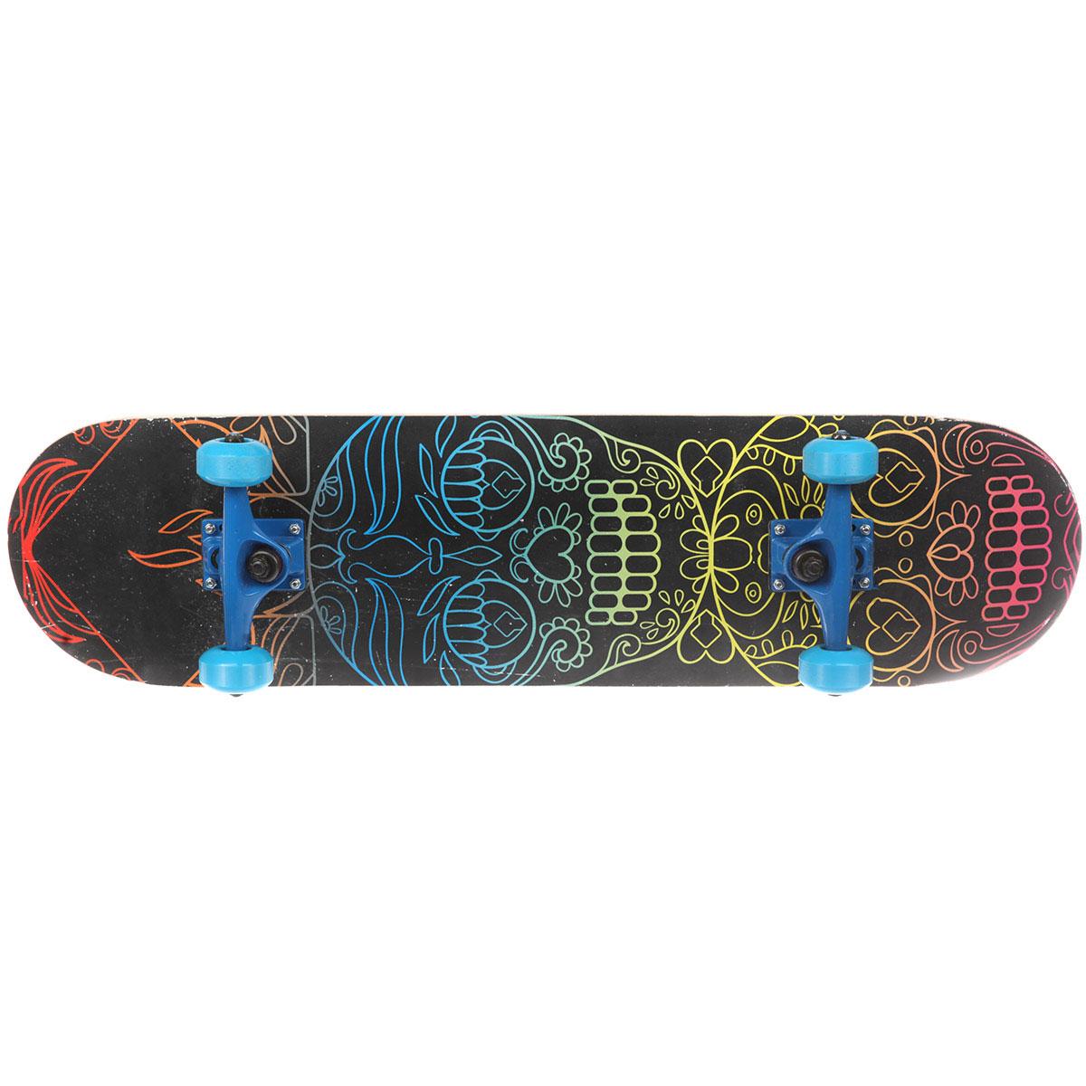 Скейтборд в сборе Turbo-FB Skull Multicolor 31.5 x 8.25 (21 см)