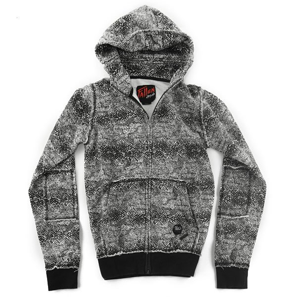 Толстовка Fallen Cobra Hood Fleece Black/White/Snakes