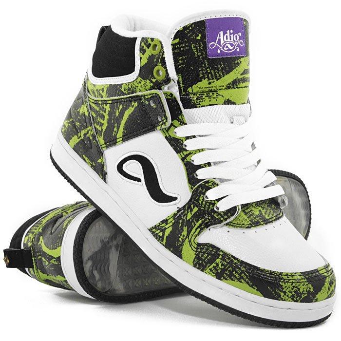 06e7164b Купить обувь кеды кроссовки Adio Ruckus Green/White/Black ...