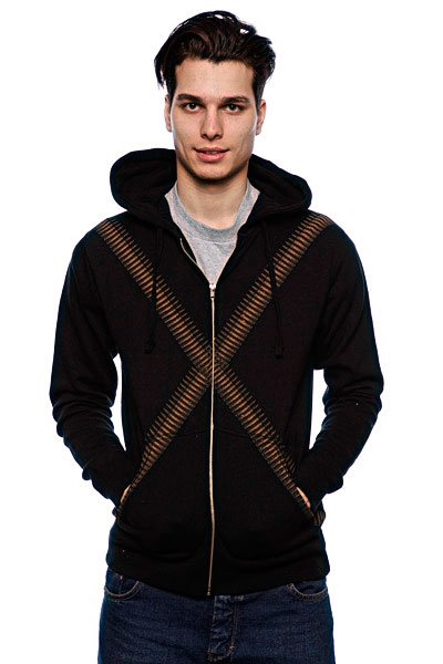 Толстовка Fallen Desperado Zip Hood Black