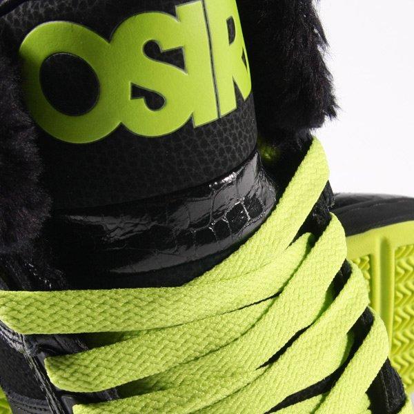 Кеды утепленные Osiris Bronx Black/Green/Shearling