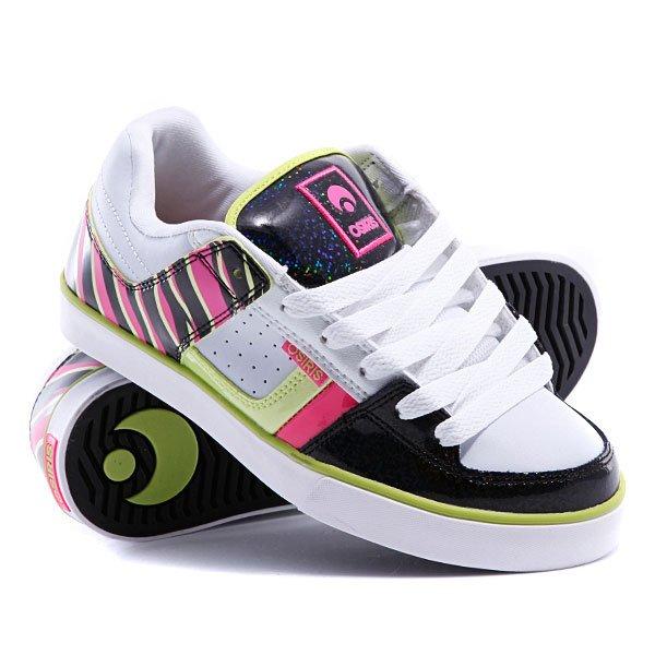 Кеды кроссовки низкие женские Osiris Libra White/Black/Pink