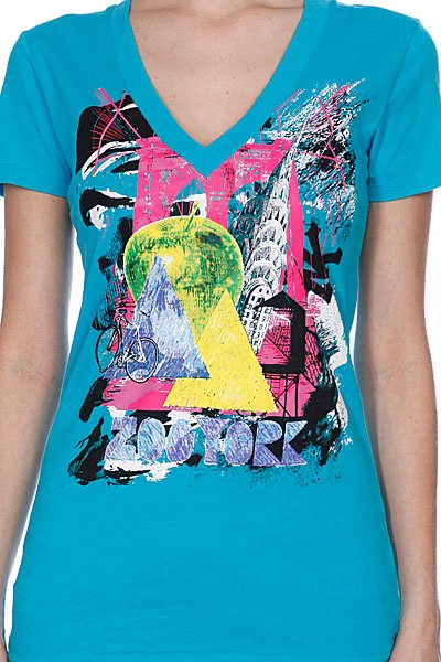 Футболка женская Zoo York Big Apple Tee Blue Bird