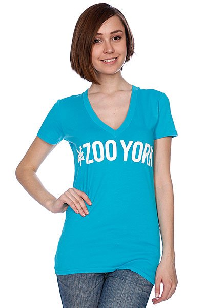 Футболка женская Zoo York Logo Block Tee Bluebird