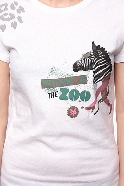 Футболка женская Zoo York Zebra Head Bright White