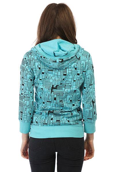Толстовка женская Zoo York Knit City Block Island Blue