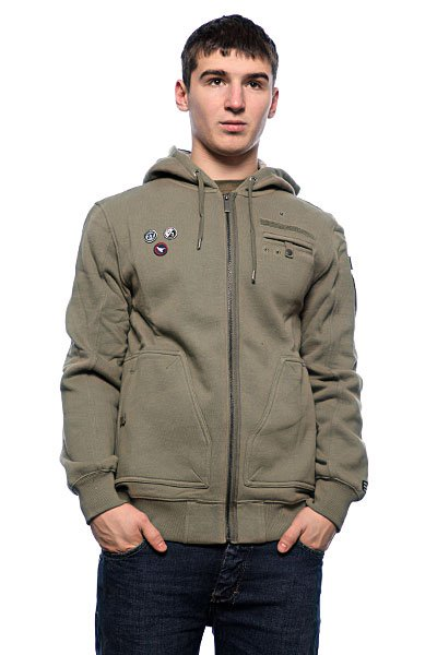 Толстовка Zoo York Militia Fleece Drab