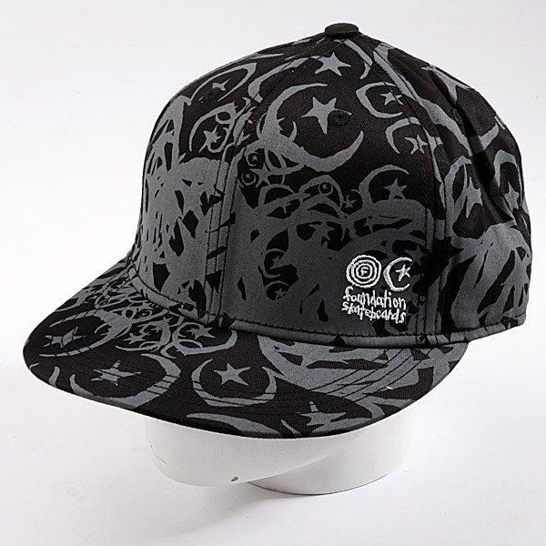 Бейсболка New Era Foundation Infest Fit NewEra Black/Grey