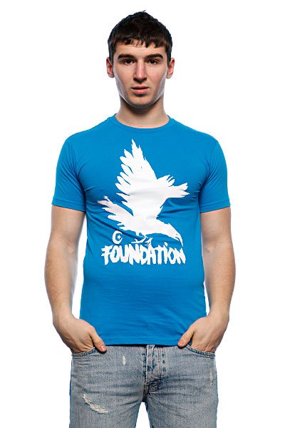 Футболка Foundation F-Ink Crow Turquoise