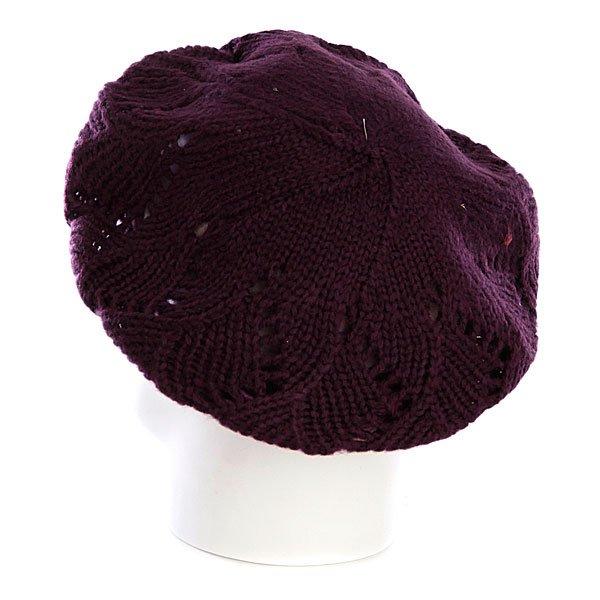 Шапка вязаная женская Zoo York Pointelle Beret Potent Purple