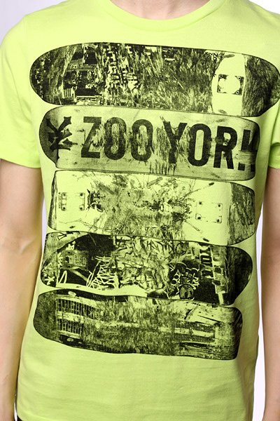 Футболка Zoo York Thrashed Fl Green