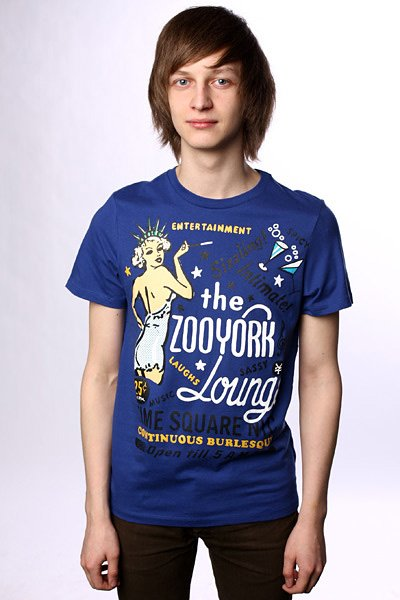 Футболка Zoo York Zoo York Lounge Deep Blue