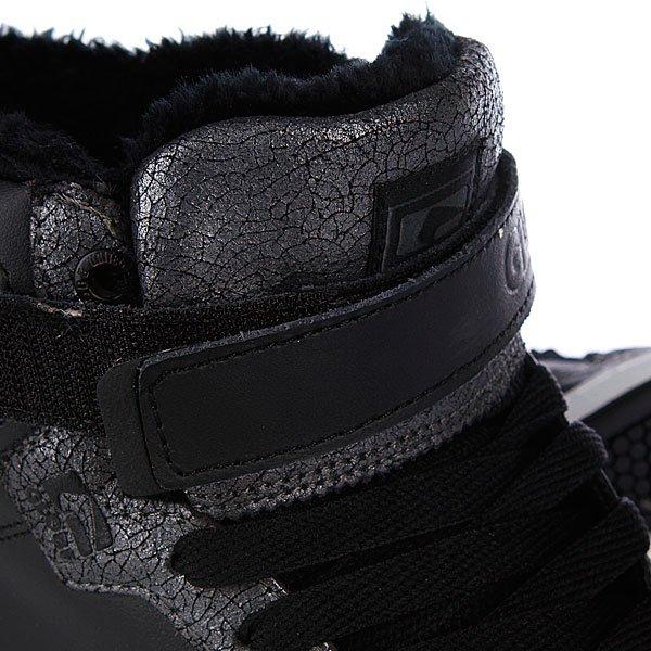 Кеды утепленные Globe Superfly Fur Black Cracked