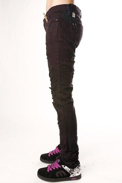 Джинсы узкие женские Insight Beanpole Skinny Stretch Ripped Caveman Black