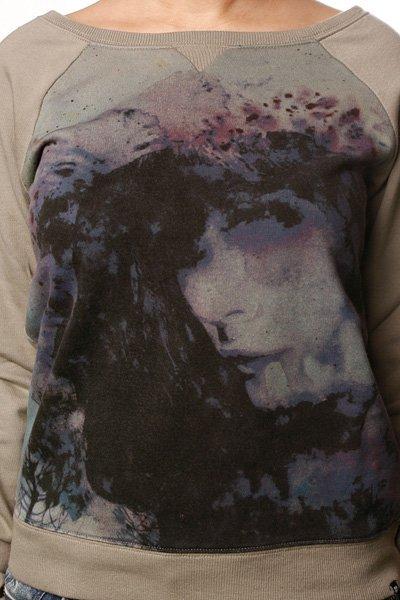 Толстовка классическая женская Insight Floral Kingdom Sweater Mushroom