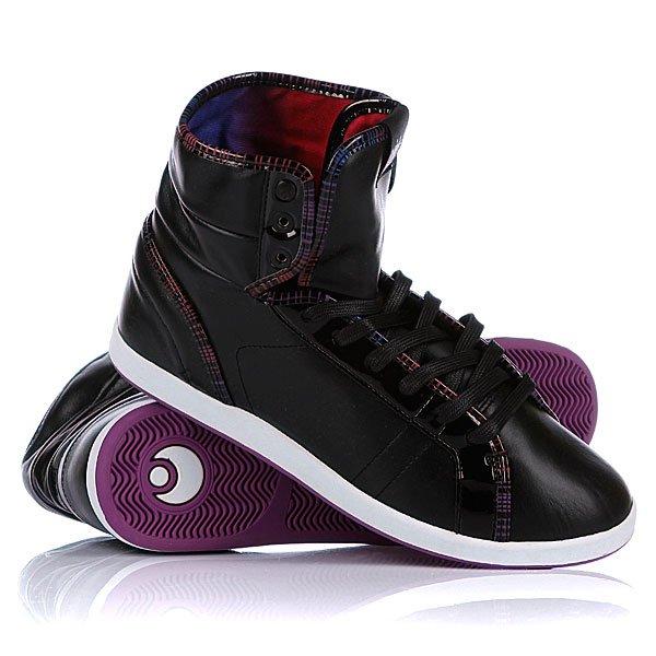 Кеды кроссовки высокие женские Osiris Soha Black/Multi/Fade