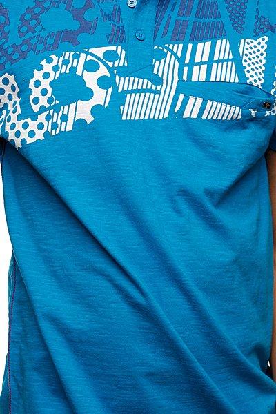 Футболка Поло Globe Motown Polo Ocean Blue