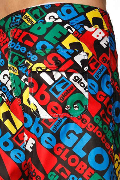 Пляжные мужские шорты Globe Matrix Boardie Black Primary