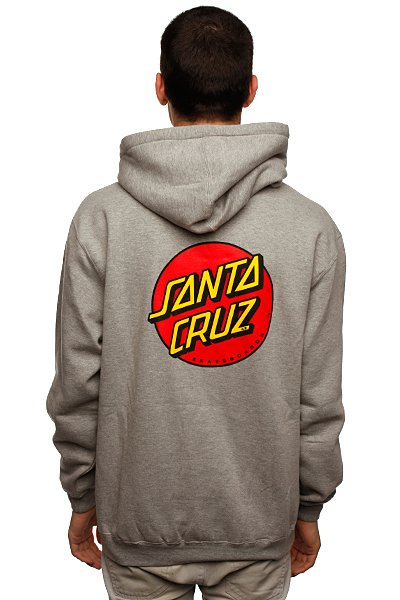 Толстовка Santa Cruz Classic Dot Grey Heather