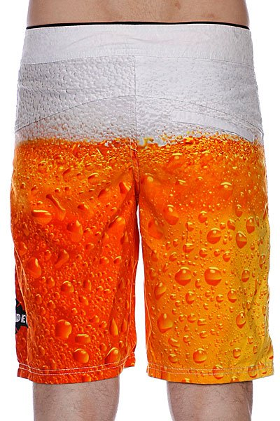 Пляжные мужские шорты Independent Bottoms Up Beer Print