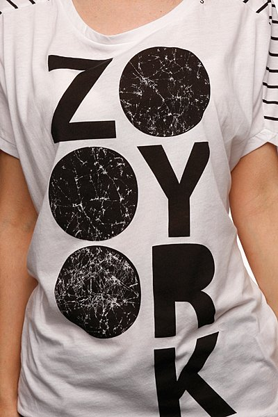 Футболка женская Zoo York Information White