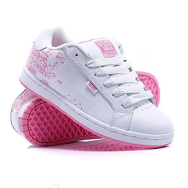 Кеды кроссовки женские Vans Weston Scattered White/Aurora Pink/Mid Grey