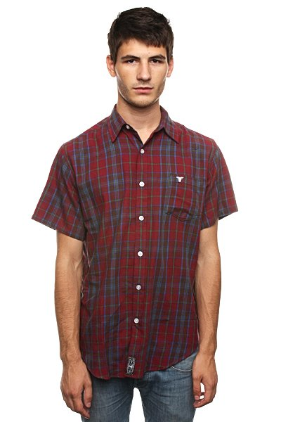 Рубашка в клетку Fallen Richmond Button Up Burg/Blue