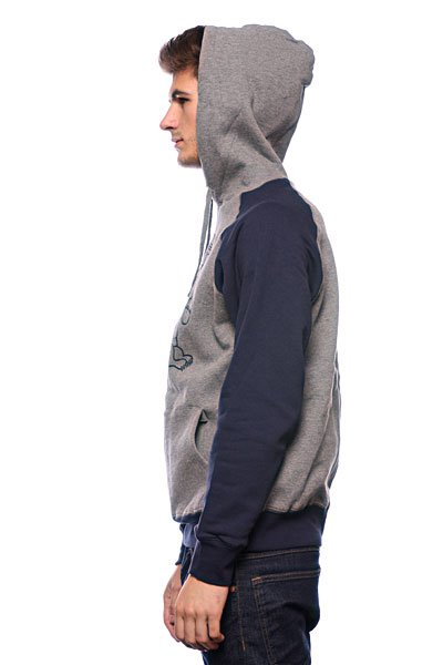 Кенгуру Huf Screw You Hood Heather Grey Navy