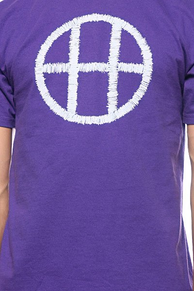 Футболка Huf Stitch Circle H Purple