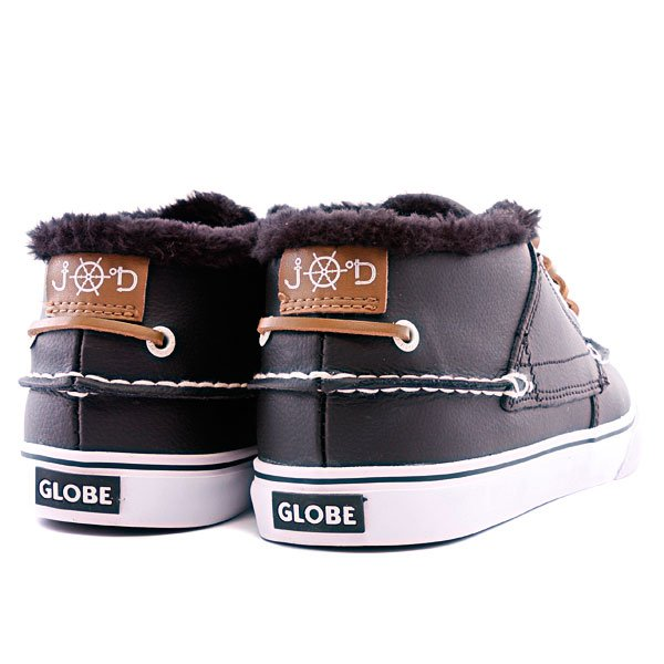Кеды утепленные Globe The Bender Fur Black/White