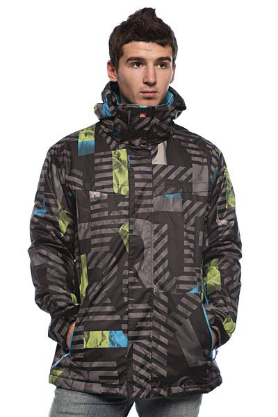 d115713382e0 Купить куртку Quiksilver Last Mission Print Insulated Jkt 2 Black ...